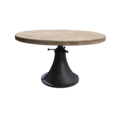 World Interiors Mango Wood Adjustable Round Dining Table