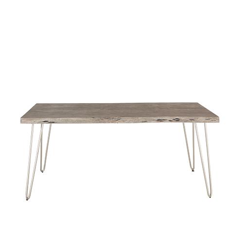 Weathered Grey Acacia Wood Dining Table