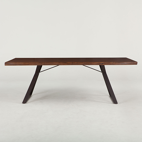 Acacia Wood 80 Inch Rectangular Dining Table in Walnut