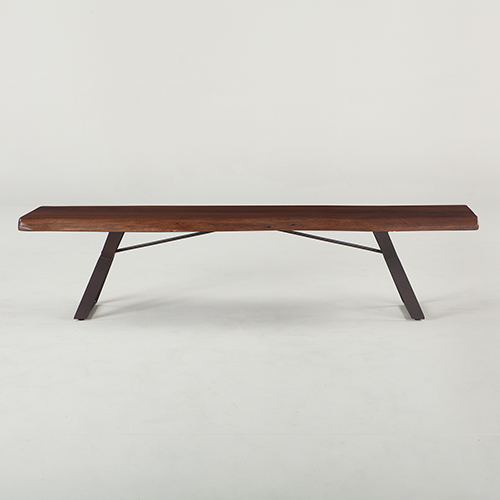 World Interiors Acacia Wood 90 Inch Dining Bench In Walnut Zwnthm902
