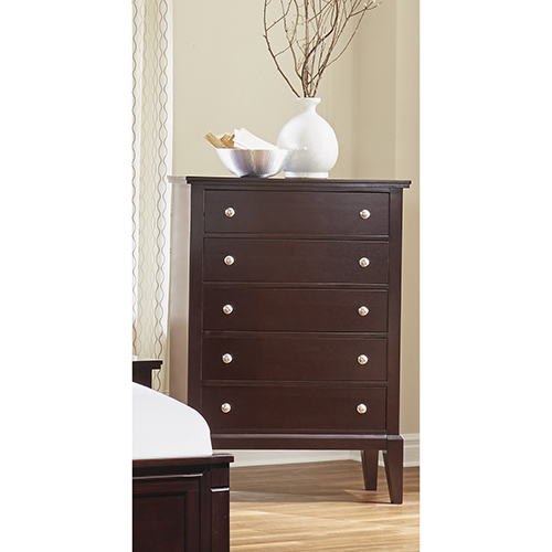 Stanford Java Five Drawer High Chest