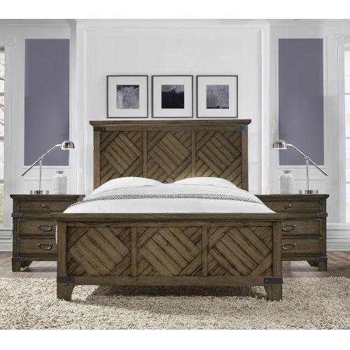 Bridgeport Vintage Brown Queen Bed