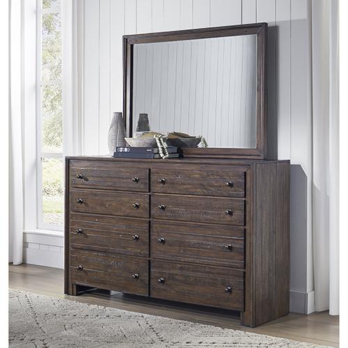 Princeton Distressed Mohogany Eight Drawer Dresser