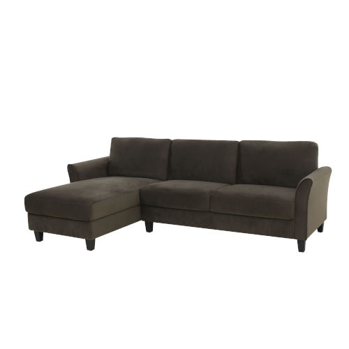 Warren Coffee Sectional Sofa with Curved Arms