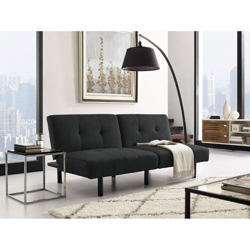 Hampshire Black Convertible Sofa