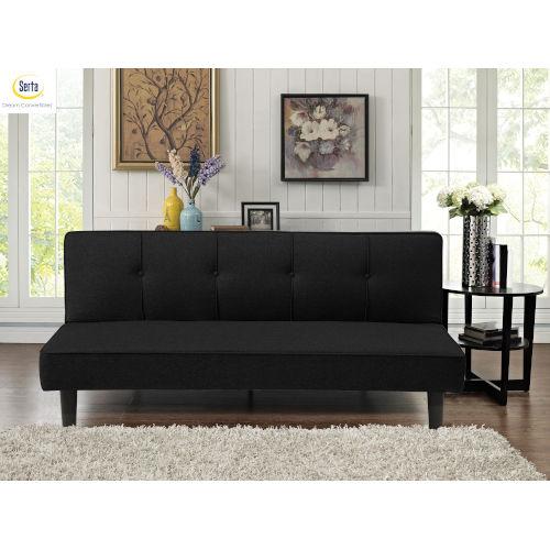 Black Serta Loretta Convertible Sofa