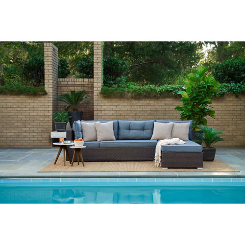 Relax A Lounger Pacifica Outdoor Convertible Sofa in Blue