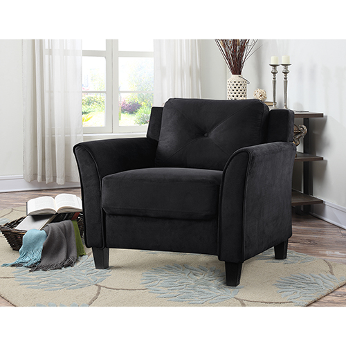 Lifestyle Solutions Harvard Black Polyester Chair