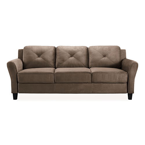 Harvard Brown Polyester Sofa