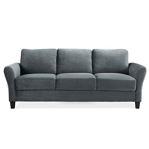 Lifestyle Solutions Wilshire Dark Grey Polyester Sofa