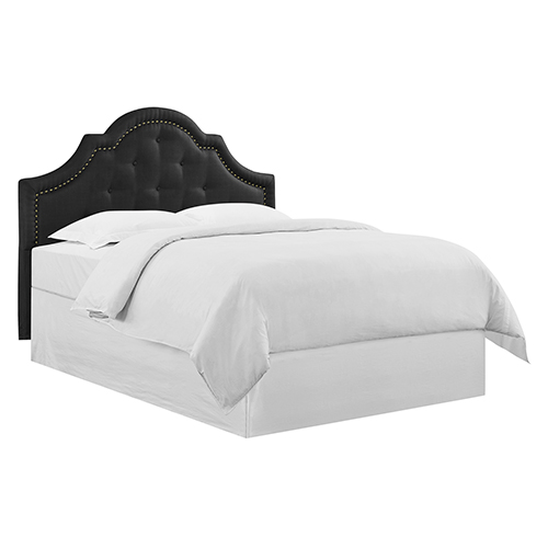 Lifestyle Solutions Hailey Queen Black Polyester Headboard
