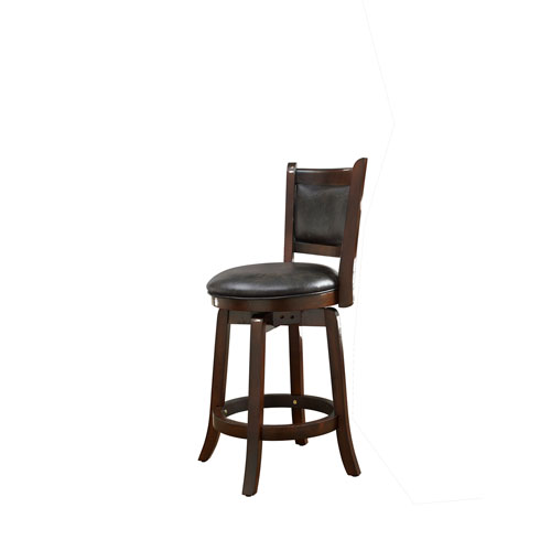Lifestyle Solutions Abbey Black Faux Leather Barstool