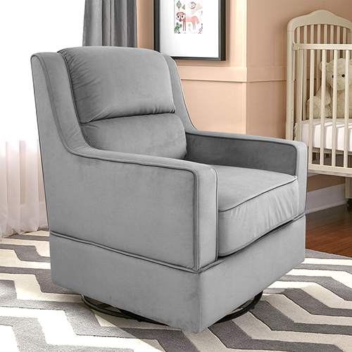 Julia Grey Swivel Nursery Rocker