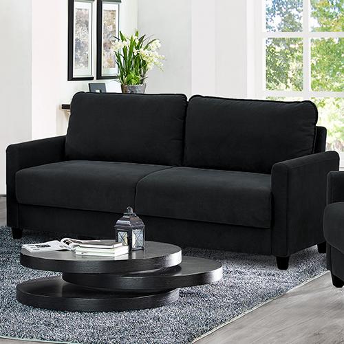 Lifestyle Solutions Sydney Black Polyester Sofa
