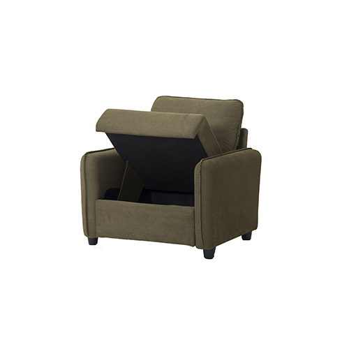 Shelly Taupe Chair with Storage