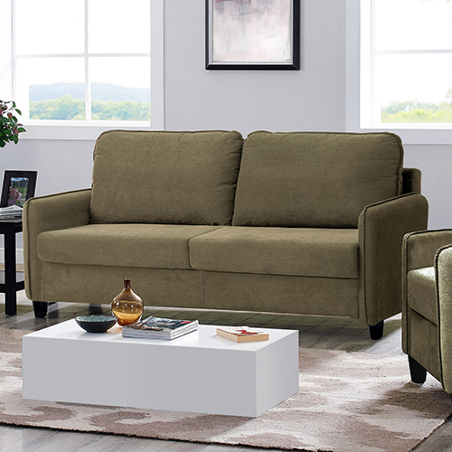 Lifestyle Solutions Shelly Taupe Polyester Sofa
