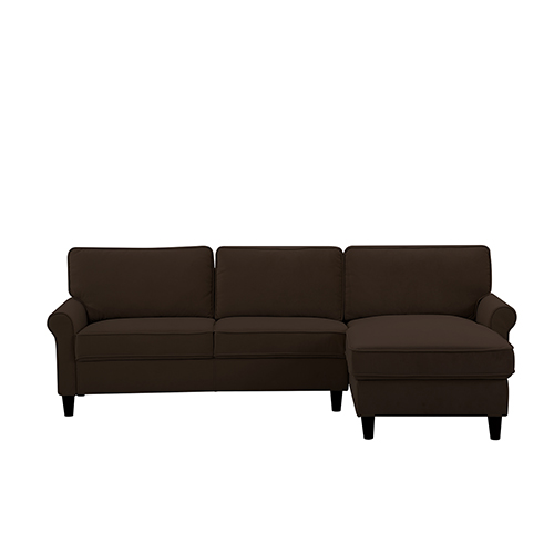 Charmant Lifestyle Solutions Morgan Chocolate Polyester Sectional
