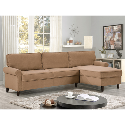 Bon Lifestyle Solutions Morgan Dove Polyester Sectional