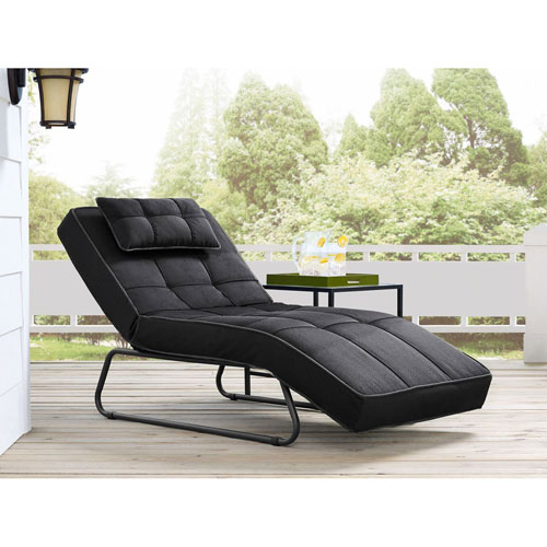 Relax A Lounger Waikiki Outdoor Convertible Chaise in Dark Grey