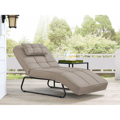 Relax A Lounger Waikiki Outdoor Convertible Chaise in Sand