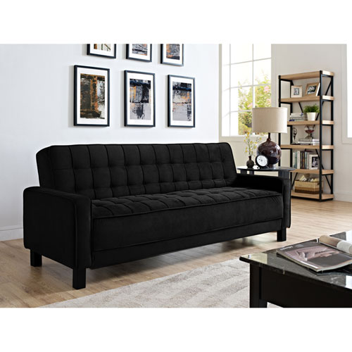 Serta Madison Black Convertible Sofa Bed