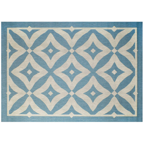 Charleston Spa and Beige 88-Inch Outdoor Rug