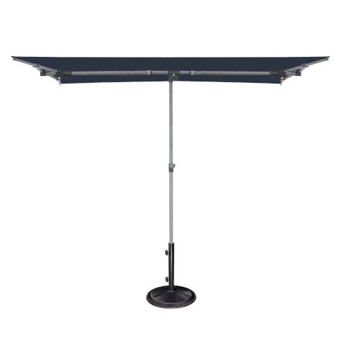 Capri Navy 4.95-Feet x 6.93-Feet Rectangle Balcony Umbrella