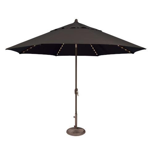 Lanai Pro Black Octagon Auto Tilt Market Umbrella