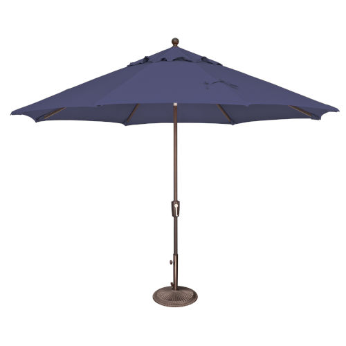 Catalina Blue Sky Octagon Push Button Tilt Market Umbrella