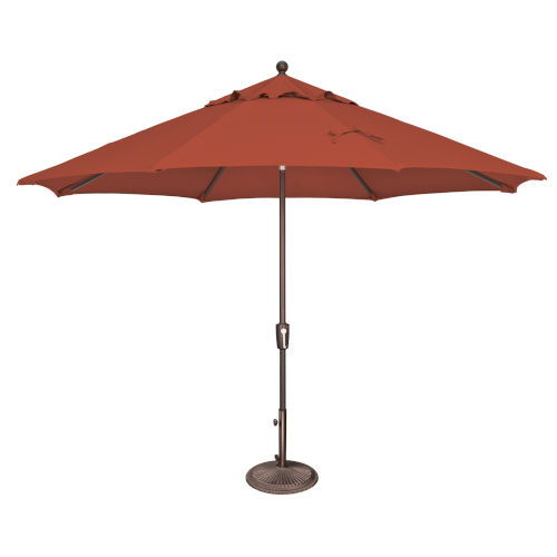 Catalina Tangerine 11-Feet Octagon Push Button Tilt Umbrella