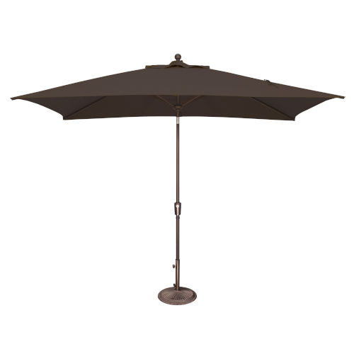 Catalina Black Rectangle Push Button Tilt Market Umbrella