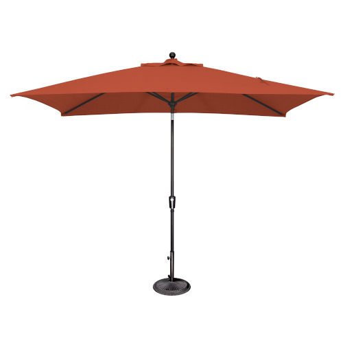 Catalina Tangerine and Black Push Button Market Umbrella