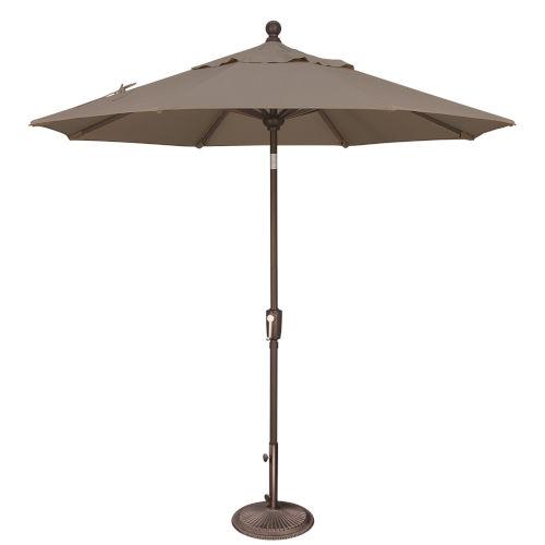 Catalina Taupe 90-Inch  Market Umbrella