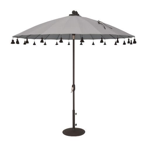 Isabela Cast Silver 8.5-Feet Round Auto Tilt Umbrella