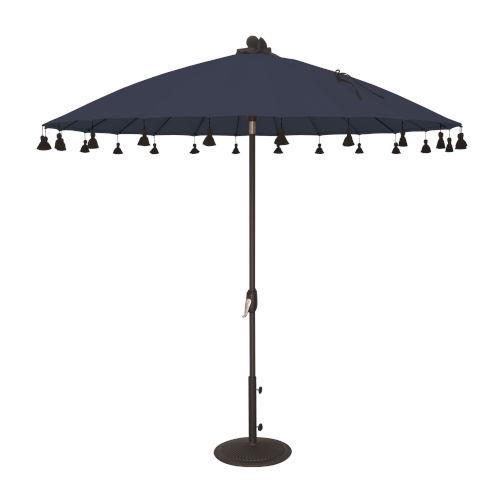 Isabela Navy 8.5-Feet Round Auto Tilt Umbrella