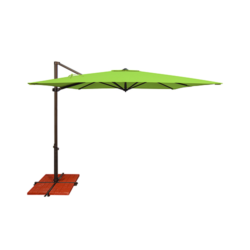 SimplyShade Skye Sunbrella 8 Feet and 6 Inch Gingko Square Umbrella and Cross Base Stand