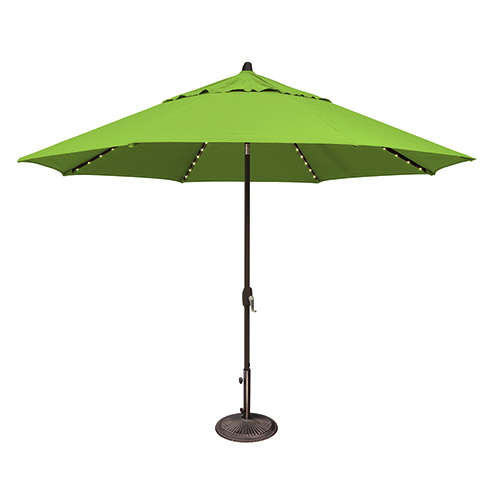 Lanai Pro 11 Foot Sumbrella Gingko Octagon Auto Tilt with Starlight Feature