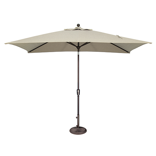 Catalina 6x10 Foot Rectangular Sunbrella Antique Beige Octagon Push Button Tilt
