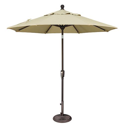 Catalina 7.5 Foot Sunbrella Antique Beige Octagon Push Button Tilt