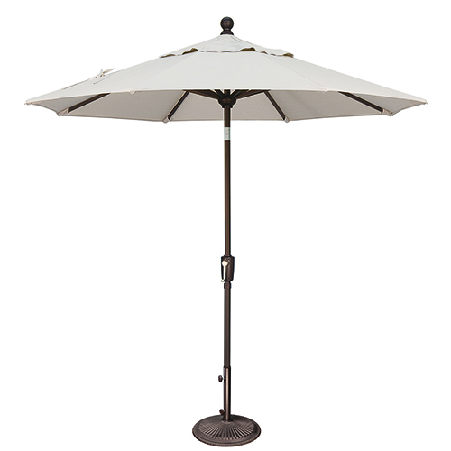 Catalina 7.5 Foot Sunbrella Natural Octagon Push Button Tilt