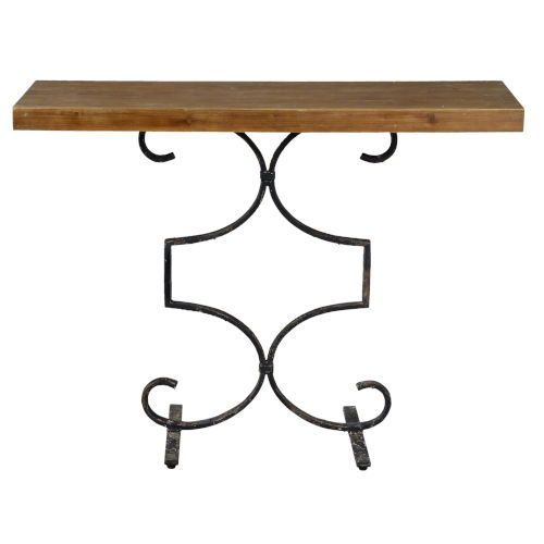 Medium Brown Wash 42-Inch Console Table