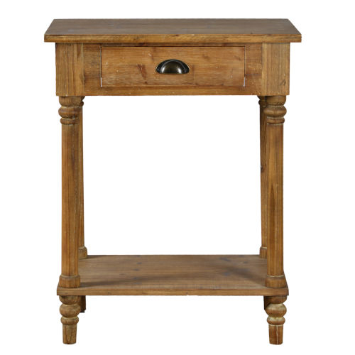 Medium Brown Wash 24-Inch End Table