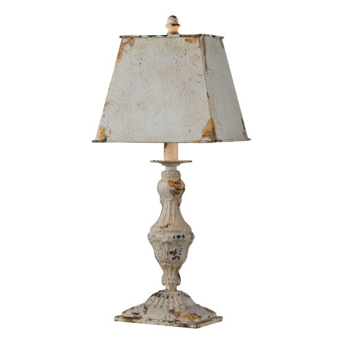 Lynn Antique White One-Light 21-Inch Table Lamp