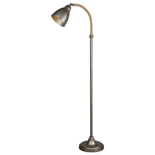 Porter Pewter Plated One-Light Floor Lamp