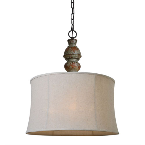 Fenwick Distressed Brown and Blue One-Light Pendant