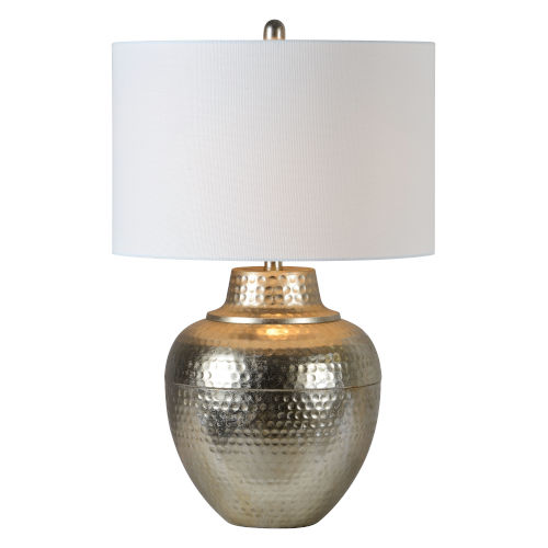 Antique Silver 27-Inch One-Light Table Lamp