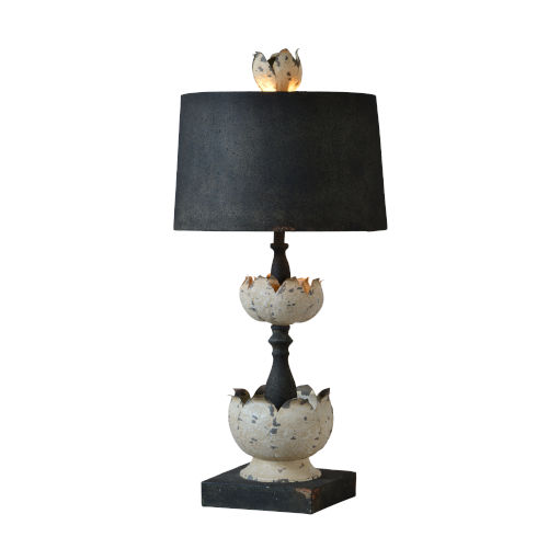 Cottage White and Black 29-Inch One-Light Table Lamp