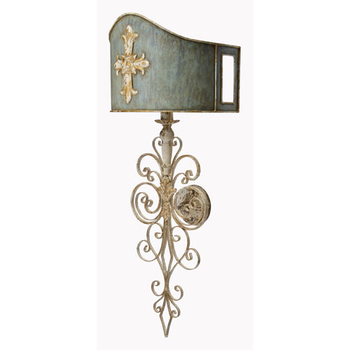 Sutton Blue and White One-Light Wall Sconce