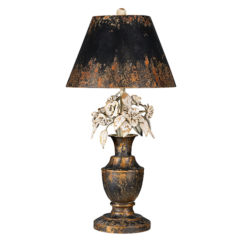 Skylar Gold and Weathered Metal 28-Inch One-Light Table Lamp