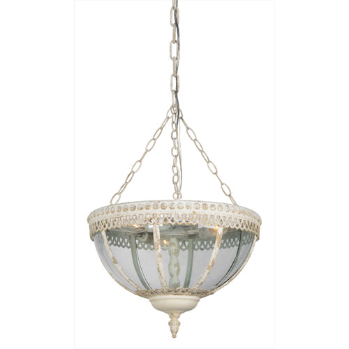 Gordon Cottage White Three-Light Pendant